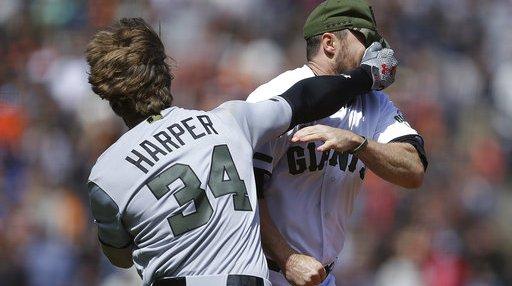 APTOPIX Nationals Giants Baseball
