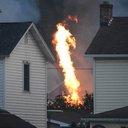 Train Derailment Fire