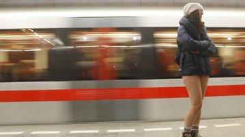 Czech Republic No Pants Subway Ride