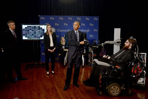Obama robot hand