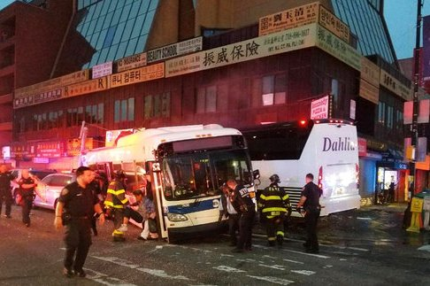 NY Buses Collide