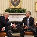 APTOPIX Obama Trump