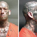Heavily Tattooed Fugitive
