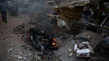 MIDEAST-CRISIS-SYRIA-MISSILE