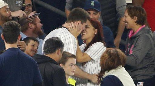 Yankees Botched Engagement Baseball