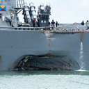 APTOPIX Singapore US Navy Ship Collision