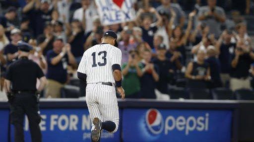 Rays Yankees A-Rod Finale Baseball