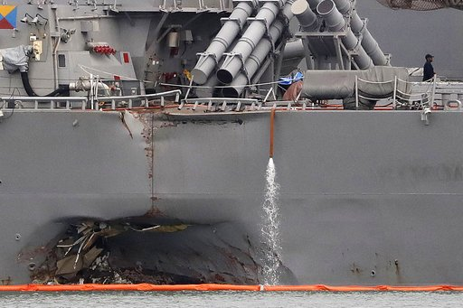 Navy Ship Collisions