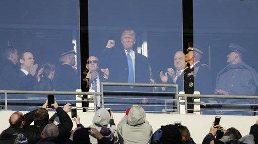 APTOPIX Trump Army Navy Football