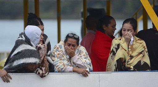 APTOPIX Colombia Boat Sinking