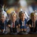 APTOPIX Spain Clinton Trump Miniatures