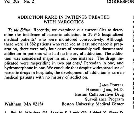 Painful words: How a 1980 letter fueled the opioid epidemic