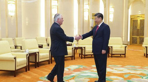 China US Tillerson Asia
