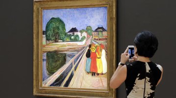 Edvard Munch painting auction