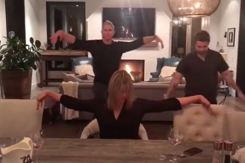Chase Utley Rob McElhenney Kaitlin Olson Super Bowl