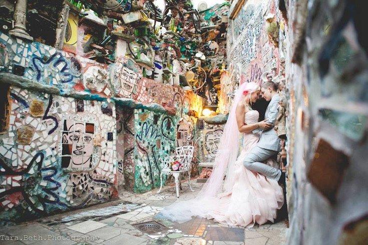 Queer couple craft magical DIY wedding at Philadelphias Magic